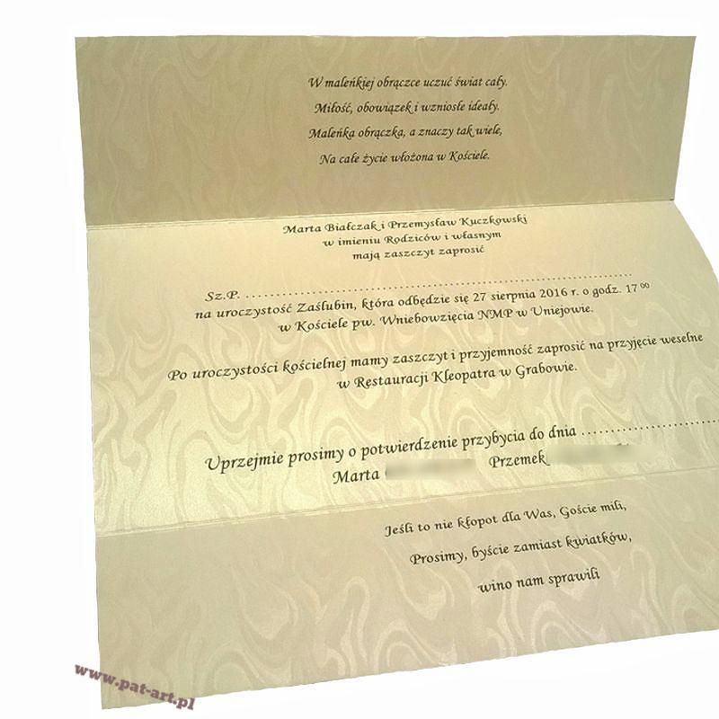Zaproszenia ślubne Patart